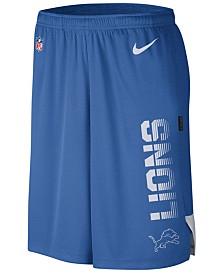 Nike Men's Detroit Lions Player Knit Breathe Shorts