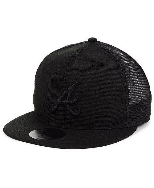 New Era Atlanta Braves Blackout Meshback 59FIFTY-FITTED Cap