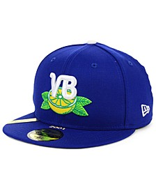 Vero Beach Dodgers MiLB 100TH Anniversary Patch 59FIFTY-FITTED Cap