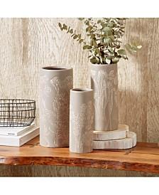 Natura Floral Motif Vases - Set of 3