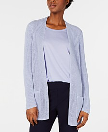 Eileen Fisher Fisherman-Knit Simple Cardigan