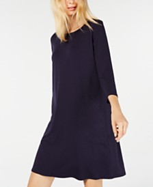 Eileen Fisher Swing 3/4-Sleeve Dress