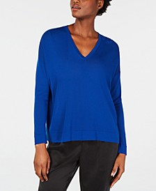 V-Neck Tencel Top, Regular & Petite