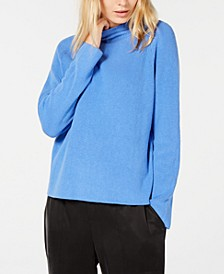 Mock-Neck Organic Cotton Sweater, Regular & Petite