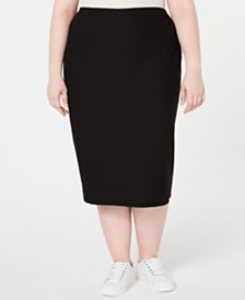 Eileen Fisher Plus Size Midi Pencil Skirt