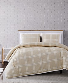 Leon Plaid Full/Queen Comforter Set