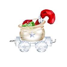 Swarovski Santa's Gift Bag Wagon Figurine