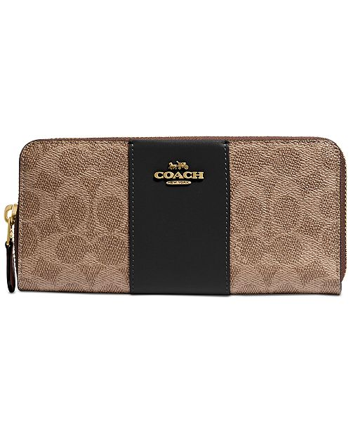 COACH Signature Coated Canvas Colorblock Wallet