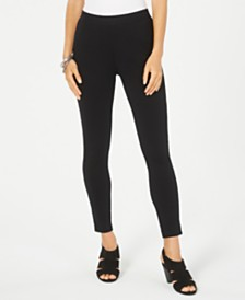 Style & Co Lace-Trim Pull-On Leggings, Created for Macy's
