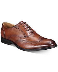 Alfani Men's Leather Abie Wingtip-Toe Oxfords, Created for Macy's