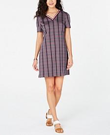 V-Neck Plaid Dress, Created for Macy's