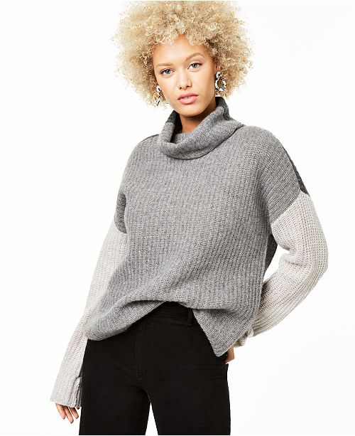 Charter Club Cashmere Colorblocked Sweater, Created for