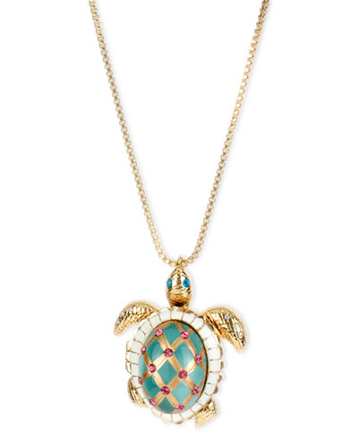 Betsey johnson gold tone glass pearl crystal turtle pendant betsey johnson gold tone glass pearl crystal turtle pendant mozeypictures Images