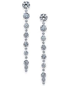 Danori Silver-Tone Cubic Zirconia Linear Drop Earrings, Created For Macy's