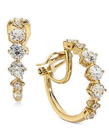 Danori Crystal Small Clip-On Hoop Earrings, Created For Macy's 7/8""