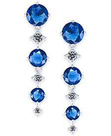 Danori Stone & Crystal Triple Drop Earrings, Created for Macy's