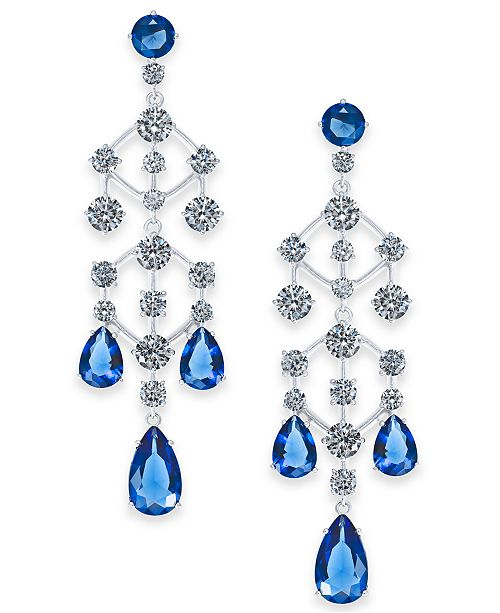 Eliot Danori Danori Silver-Tone Crystal Chandelier Drop Earrings, Created for Macy's