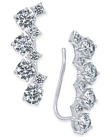 Danori Silver-Tone Cubic Zirconia Climber Earrings, Created for Macy's