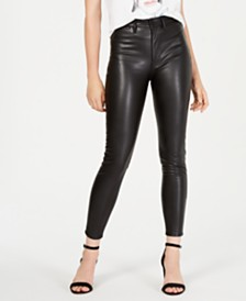 Kendall + Kylie Faux-Leather Skinny Jeans