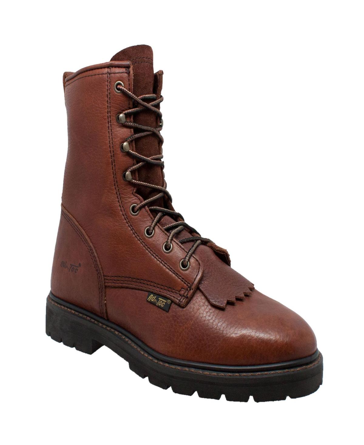 """AdTec Men's 9"""" Lacer Chestnut Men's Shoes"""