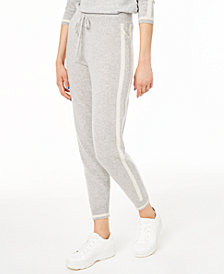 Charter Club Cashmere Side-Stripe Jogger Pants, Created for Macy's