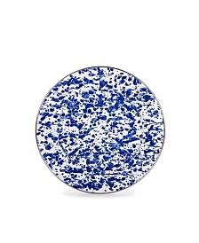 "Golden Rabbit Cobalt Swirl Enamelware Collection 10.5"" Dinner Plate"