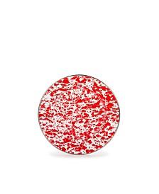 "Golden Rabbit Red Swirl Enamelware Collection 8.5"" Sandwich Plate"