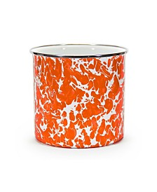 Golden Rabbit Orange Swirl Enamelware Collection Utensil Holder