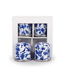 Golden Rabbit Cobalt Swirl Enamelware Collection Salt and Pepper Shakers, Set of 2