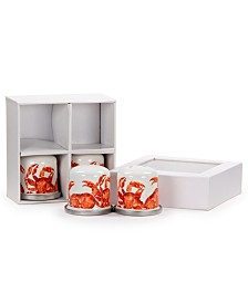 Golden Rabbit Crab House Enamelware Collection Salt and Pepper Shakers, Set of 2