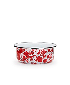 Red Swirl Enamelware Collection Soup Bowl, 14oz