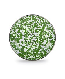 """Golden Rabbit Green Swirl Enamelware Collection 6"""" Bread and Butter Plate"""
