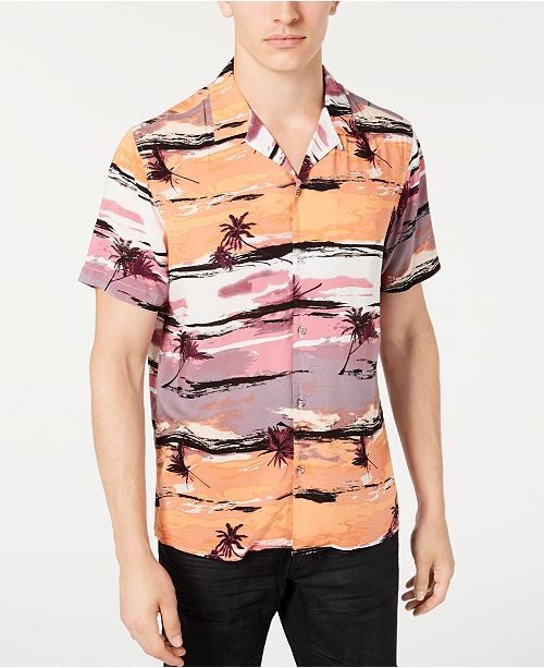 INC International Concepts INC Men's Tropical Camp Shirt, Created for Macy's