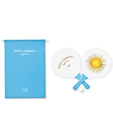 Receive a Complimentary Beach Paddle Set with any $100 purchase from the DOLCE&GABBANA Men's or Women's Light Blue fragrance collection