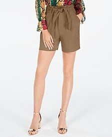 INC Solid Paperbag Shorts, Created for Macy's