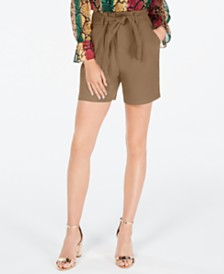 I.N.C. Solid Paperbag Shorts, Created for Macy's