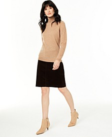 Cashmere Sweater & Corduroy Skirt, Created for Macy's