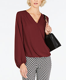 INC Surplice Top, Created for Macy's