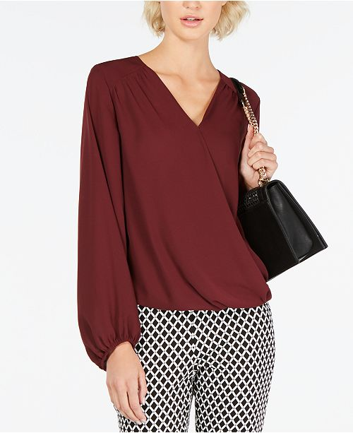 INC International Concepts INC Surplice Top, Created for Macy's