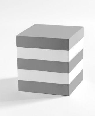 Lacquer Stripe Cotton Jar