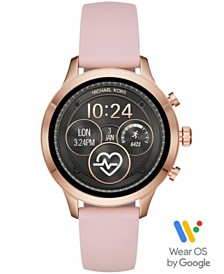 Michael Kors Access Unisex Runway Pink Silicone Strap Touchscreen Smart Watch 41mm, Powered by Wear OS by Google™