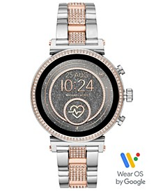 Access Women's Sofie Heart Rate Two-Tone Stainless Steel Bracelet Touchscreen Smart Watch 41mm, Powered by Wear OS by Google™