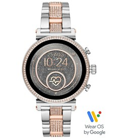 Michael Kors Access Women's Sofie Heart Rate Two-Tone Stainless Steel Bracelet Touchscreen Smart Watch 41mm, Powered by Wear OS by Google™