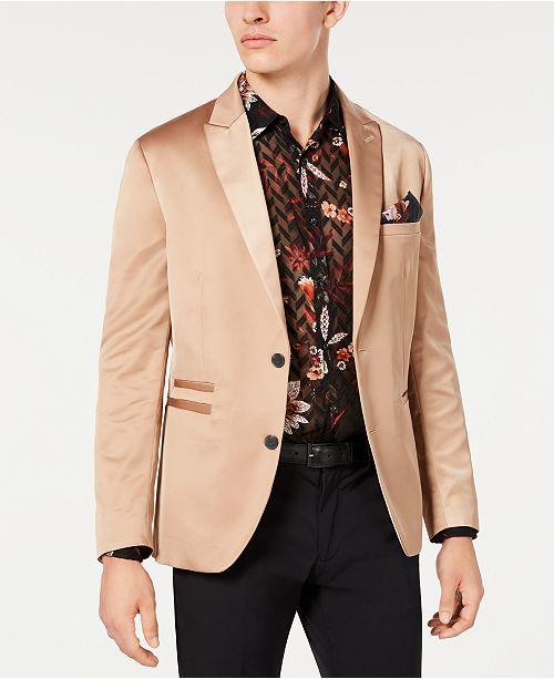 INC International Concepts INC Men's Slim-Fit Stretch Satin Blazer, Created for Macy's