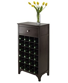 Ancona Modular Wine Cabinet with One Drawer and 24-Bottle