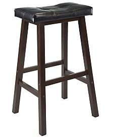 """Winsome Wood Mona 29"""" Cushion Saddle Seat Stool"""