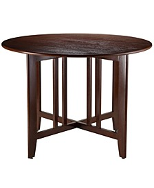 "Wood Alamo Double Drop Leaf Round 42"" Table Mission"