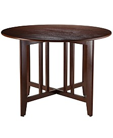 "Winsome Wood Alamo Double Drop Leaf Round 42"" Table Mission"
