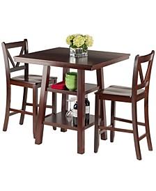 Wood Orlando 3-Piece Set High Table