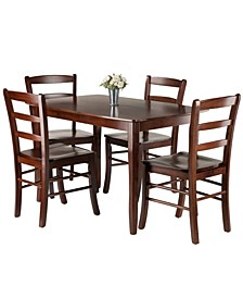 Inglewood 5-Piece Dining Table with 4 Ladderback Chairs Set